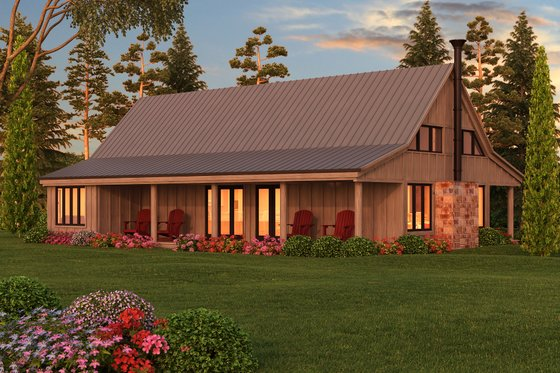 Farmhouse Exterior - Other Elevation Plan #889-2