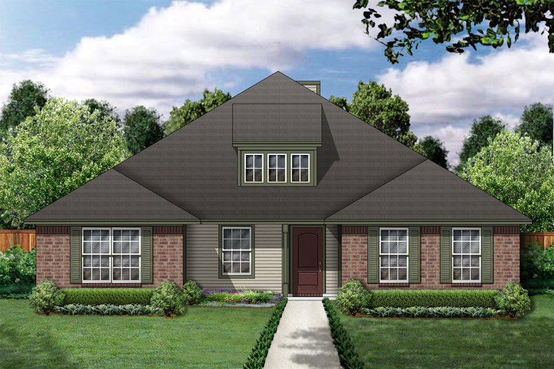 Traditional Exterior - Front Elevation Plan #84-356 - Houseplans.com
