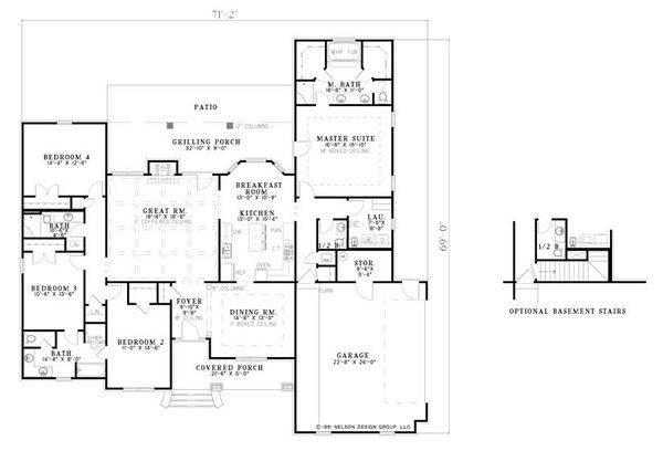 Traditional Floor Plan - Main Floor Plan Plan #17-2289