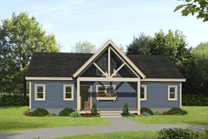 Country Exterior - Front Elevation Plan #932-254
