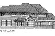 Traditional Style House Plan - 4 Beds 2.5 Baths 2838 Sq/Ft Plan #70-450 Exterior - Rear Elevation