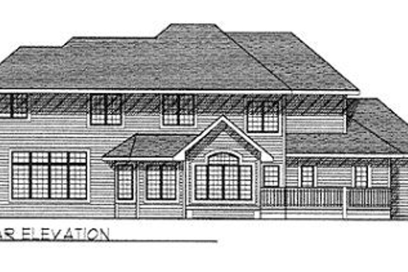 Traditional Exterior - Rear Elevation Plan #70-450 - Houseplans.com