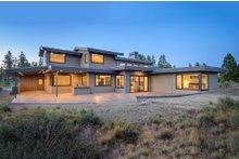 Dream House Plan - Contemporary Exterior - Rear Elevation Plan #892-10