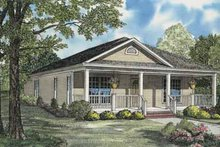 House Plan Design - Traditional Exterior - Front Elevation Plan #17-555
