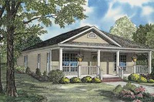 Traditional Exterior - Front Elevation Plan #17-555