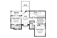 Mediterranean Floor Plan - Upper Floor Plan Plan #930-22