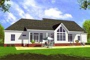 Farmhouse Style House Plan - 4 Beds 3 Baths 2506 Sq/Ft Plan #21-117 Exterior - Rear Elevation