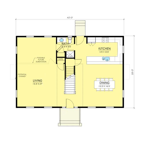 Cape Cod style house plans by Duo Dickinson, seed plan, floorplan