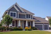 Craftsman Style House Plan - 3 Beds 2.5 Baths 2603 Sq/Ft Plan #51-494 Exterior - Front Elevation