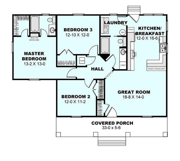 Home Plan - Cottage Floor Plan - Main Floor Plan #44-175