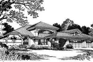 European Exterior - Front Elevation Plan #417-258