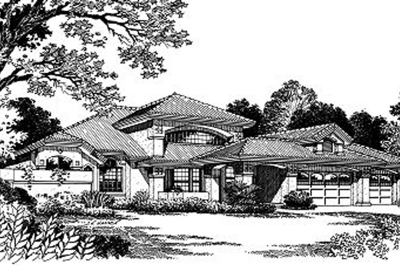 European Style House Plan - 3 Beds 2.5 Baths 2397 Sq/Ft Plan #417-258 Exterior - Front Elevation