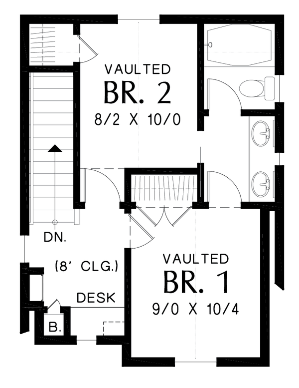 Cottage Floor Plan - Upper Floor Plan #48-1010