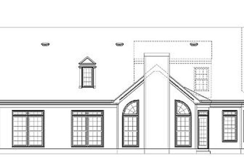 Country Exterior - Rear Elevation Plan #119-268 - Houseplans.com