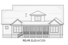 Craftsman Exterior - Rear Elevation Plan #1054-38