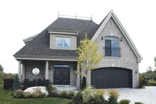 Front View - 2600 square foot European home