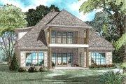 European Style House Plan - 4 Beds 3 Baths 2972 Sq/Ft Plan #17-2613 Exterior - Rear Elevation