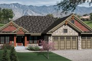 Bungalow Style House Plan - 3 Beds 2 Baths 1884 Sq/Ft Plan #70-1070 Exterior - Front Elevation