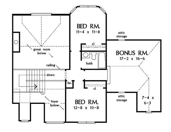 European Floor Plan - Upper Floor Plan Plan #929-570