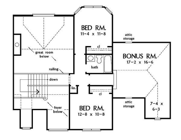 European Floor Plan - Upper Floor Plan #929-570