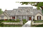 European Style House Plan - 3 Beds 2 Baths 2223 Sq/Ft Plan #310-234 Exterior - Front Elevation
