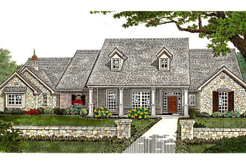 European Exterior - Front Elevation Plan #310-234
