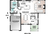 Traditional Style House Plan - 4 Beds 2.5 Baths 2197 Sq/Ft Plan #23-2285 Floor Plan - Main Floor Plan