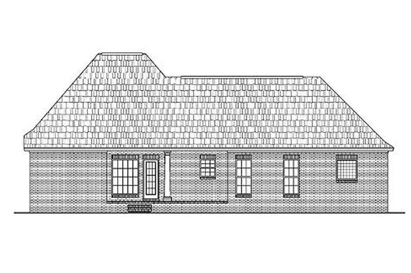 Traditional Exterior - Rear Elevation Plan #430-13 - Houseplans.com