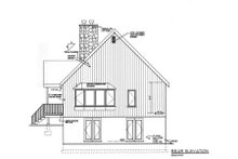 Cabin Exterior - Rear Elevation Plan #3-227