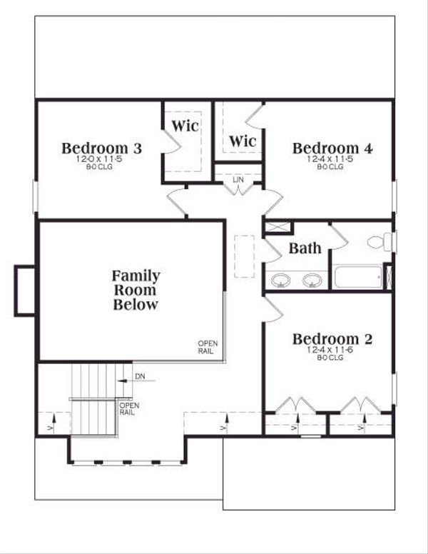 Tudor Floor Plan - Upper Floor Plan Plan #419-116
