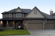Craftsman Style House Plan - 4 Beds 2.5 Baths 2177 Sq/Ft Plan #455-74 Exterior - Front Elevation