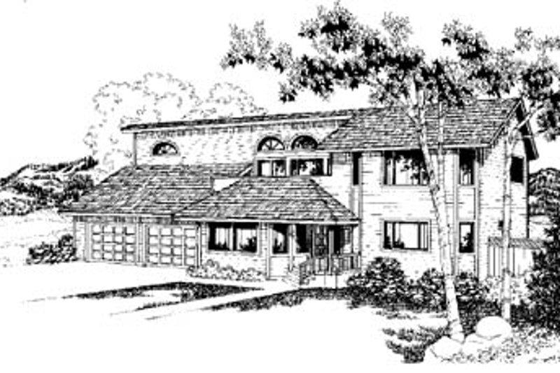 Modern Exterior - Front Elevation Plan #60-141