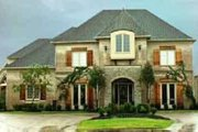 European Style House Plan - 4 Beds 4 Baths 5818 Sq/Ft Plan #81-646 Exterior - Front Elevation