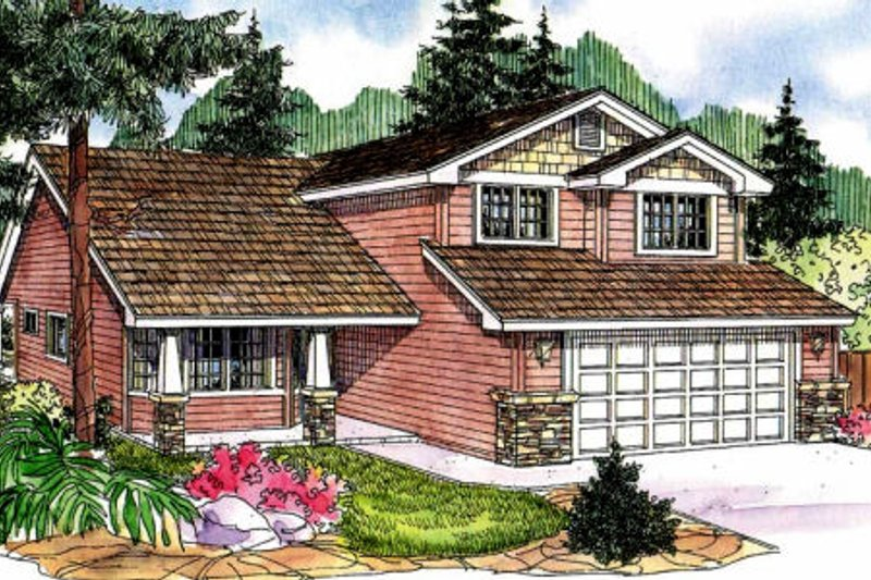 Exterior - Front Elevation Plan #124-698