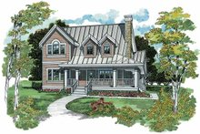 Victorian Exterior - Front Elevation Plan #47-941