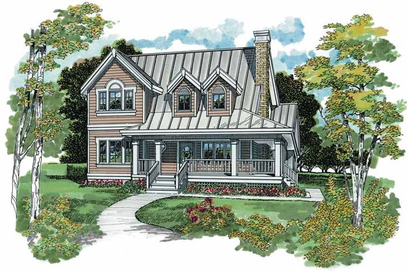 Architectural House Design - Victorian Exterior - Front Elevation Plan #47-941