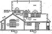 Victorian Style House Plan - 4 Beds 2.5 Baths 1823 Sq/Ft Plan #312-157 Exterior - Rear Elevation