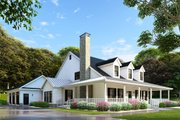 Country Style House Plan - 4 Beds 3 Baths 2180 Sq/Ft Plan #17-2503