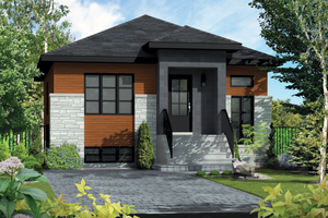 House Plan Design - Contemporary Exterior - Front Elevation Plan #25-4268