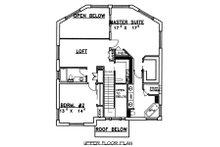 Traditional Floor Plan - Upper Floor Plan Plan #117-163