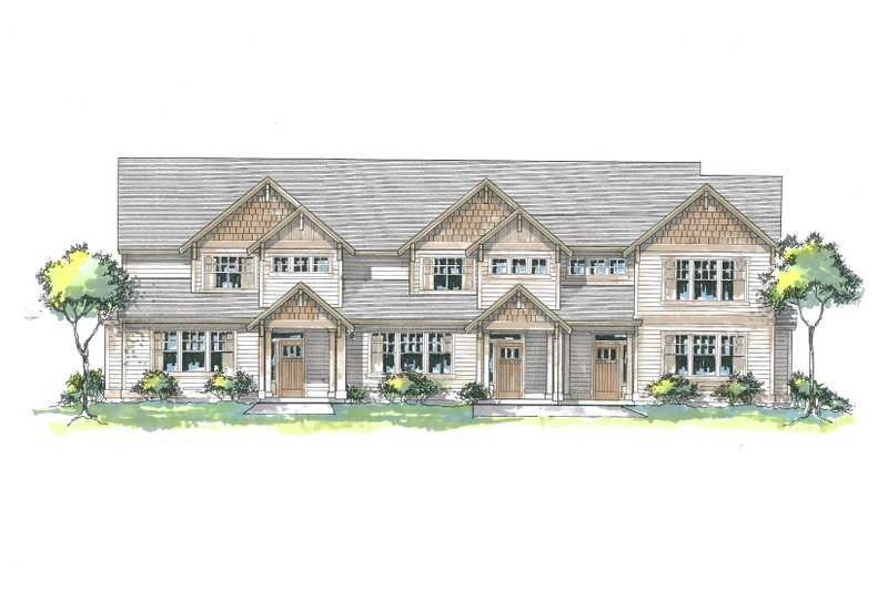 Craftsman Style House Plan - 3 Beds 2 Baths 4718 Sq/Ft Plan #53-534 Exterior - Front Elevation