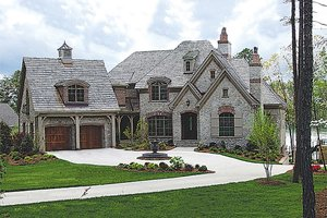 Dream House Plan - European Exterior - Front Elevation Plan #453-51