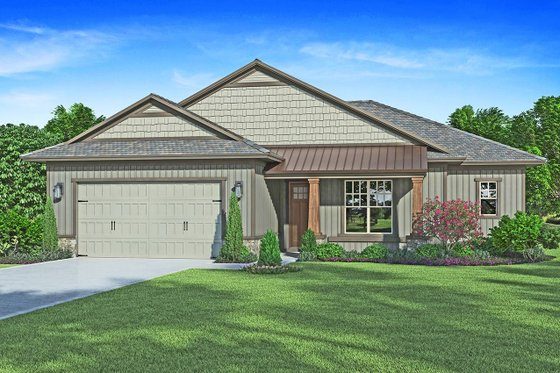 Craftsman Exterior - Front Elevation Plan #938-99