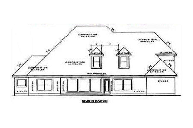 European Exterior - Rear Elevation Plan #61-235 - Houseplans.com
