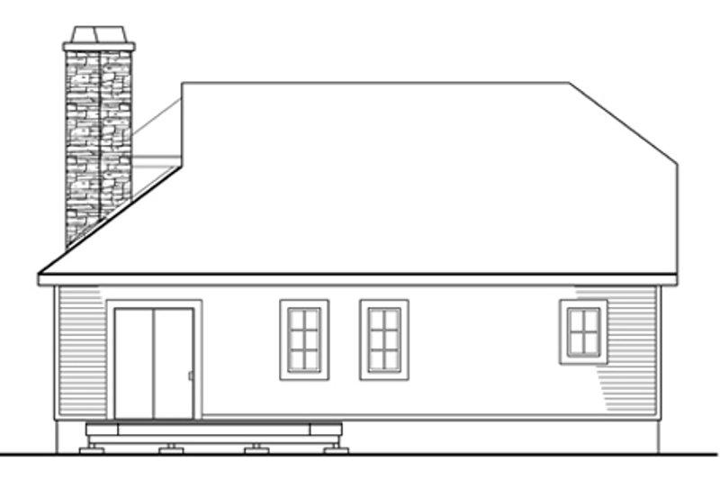 Country Exterior - Rear Elevation Plan #124-438 - Houseplans.com