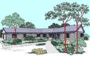 Ranch Style House Plan - 5 Beds 3.5 Baths 3821 Sq/Ft Plan #60-480 Exterior - Front Elevation