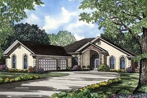 Southern Exterior - Front Elevation Plan #17-112