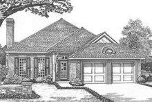 Dream House Plan - European Exterior - Front Elevation Plan #310-398