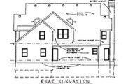 Colonial Style House Plan - 4 Beds 2.5 Baths 3422 Sq/Ft Plan #20-1127 Exterior - Rear Elevation