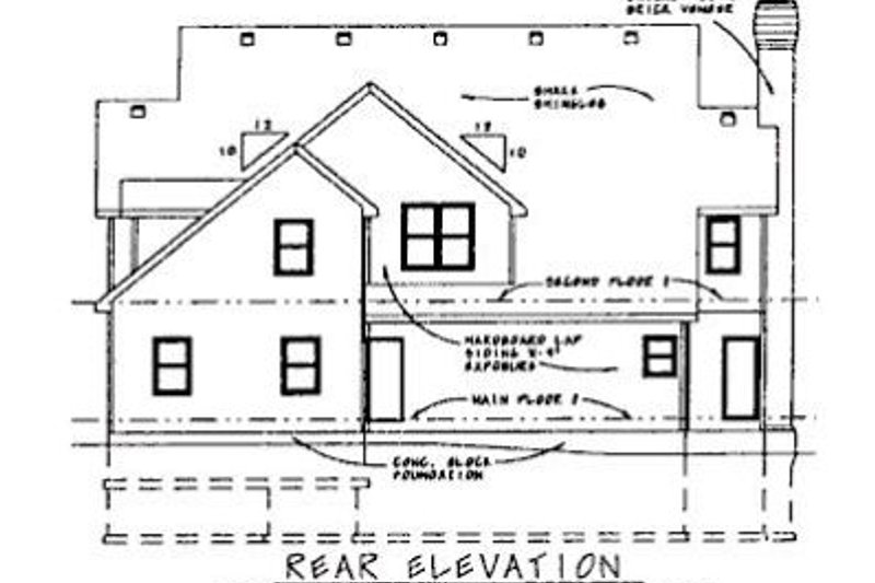 Colonial Exterior - Rear Elevation Plan #20-1127 - Houseplans.com